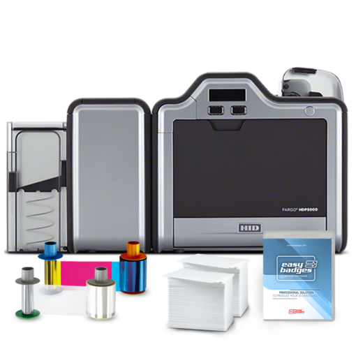 Fargo HDP5000 Complete Dual Sided ID Card System