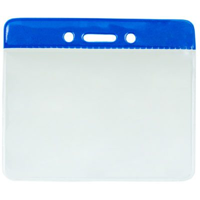 Blue-Color-Coded-Vinyl-ID-Badge-Holder-Horizontal-153100BL