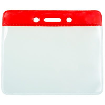 Red-Color-Coded-Vinyl-ID-Badge-Holder-Horizontal-153100R