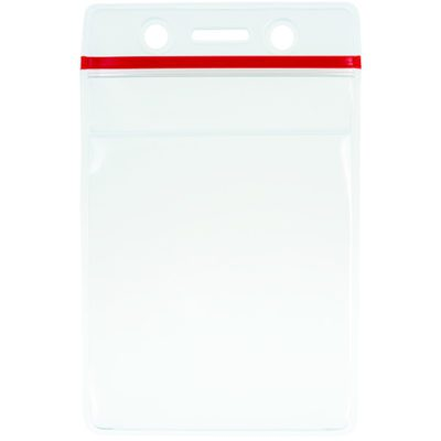 Clear-Heavy-Duty-Vinyl-ID Card-Badge-Holder-Zipper-Vertical-506-ZS
