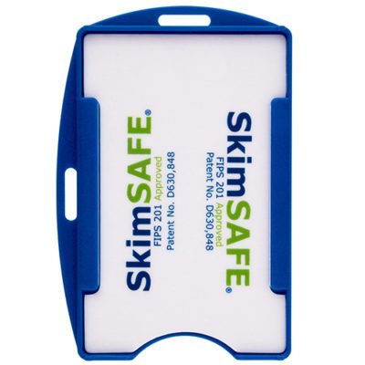 Hard-Plastic-Blue-ID-Badge-Card-Holder-RFID-Blocking-153095BL